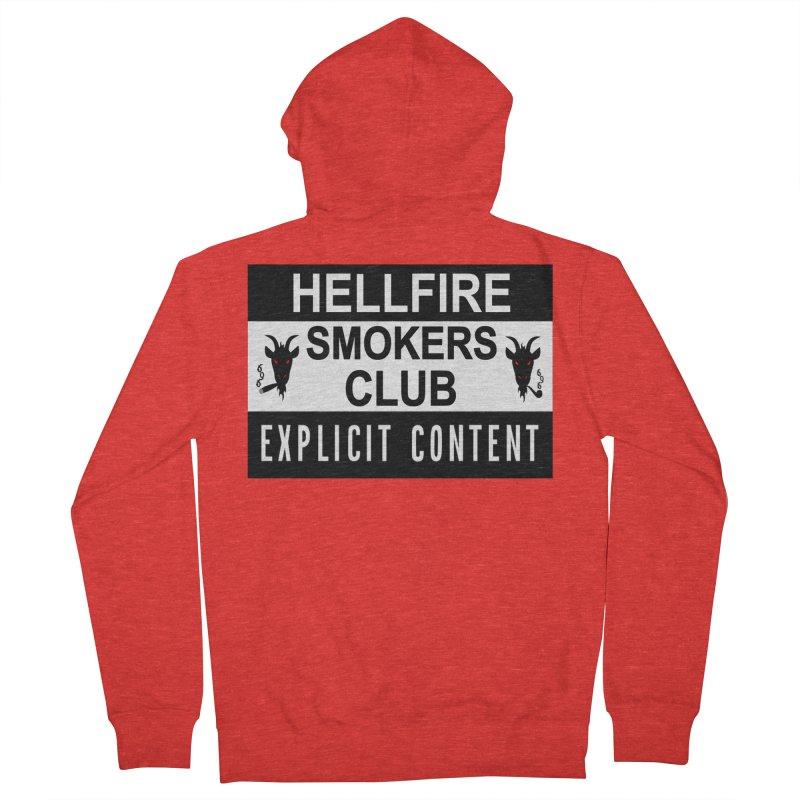 Hellfire Smokers Club - Explicit Content Men's Zip-Up Hoody by hellfiresmokersclub's Artist Shop