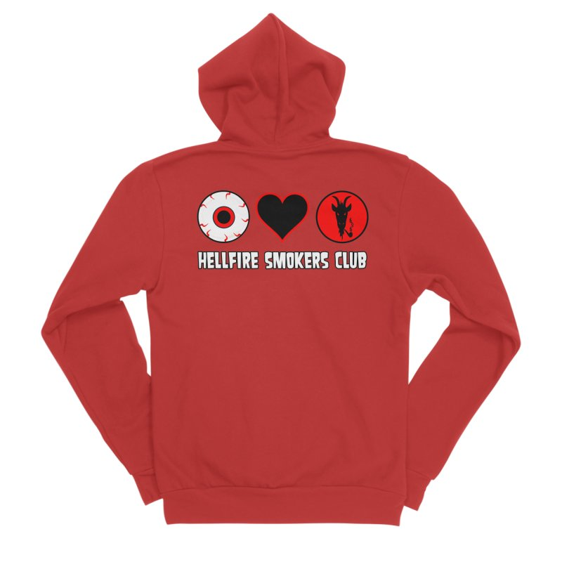Hellfire Smokers Club - Eye Heart HSC Women's Zip-Up Hoody by hellfiresmokersclub's Artist Shop