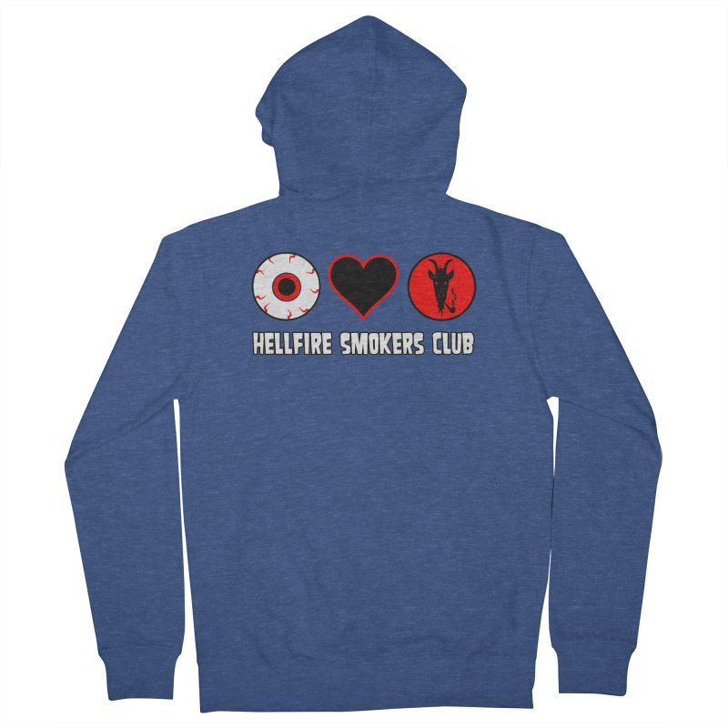 Hellfire Smokers Club - Eye Heart HSC Men's Zip-Up Hoody by hellfiresmokersclub's Artist Shop