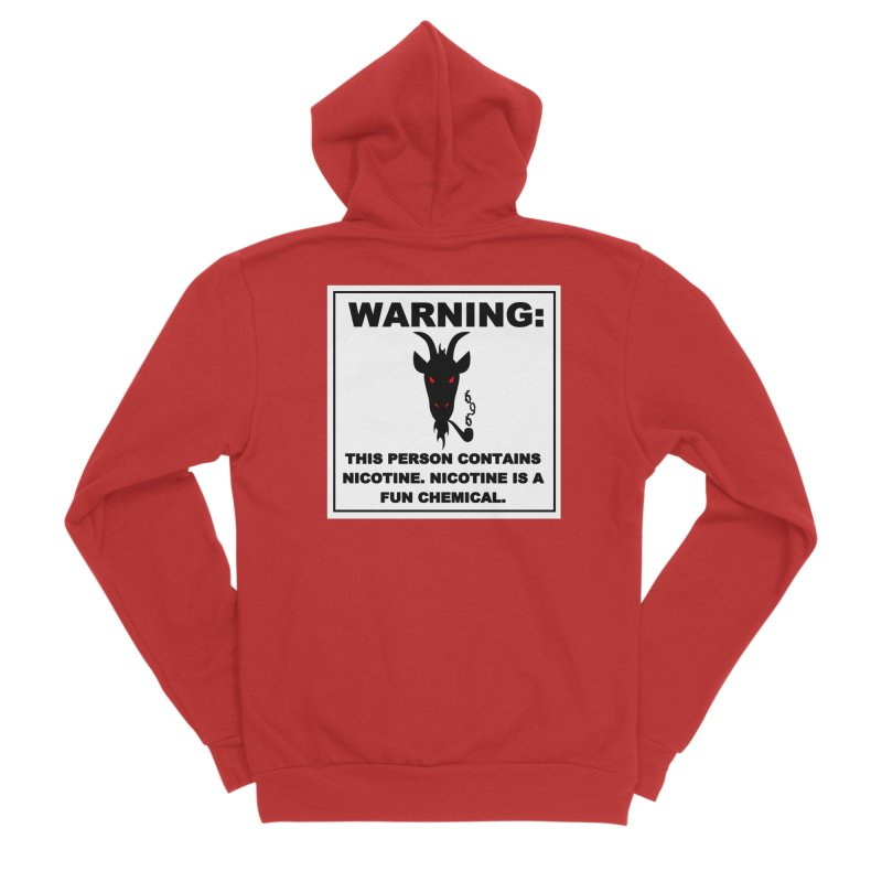 Hellfire Smokers Club - Contains Nicotine Women's Zip-Up Hoody by hellfiresmokersclub's Artist Shop