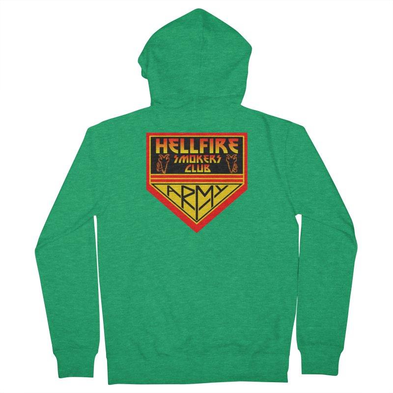 Hellfire Smokers Club - Army Men's Zip-Up Hoody by hellfiresmokersclub's Artist Shop