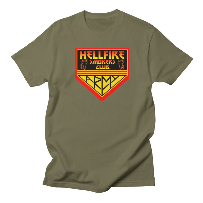 Hellfire Smokers Club - Army Men's T-Shirt by hellfiresmokersclub's Artist Shop