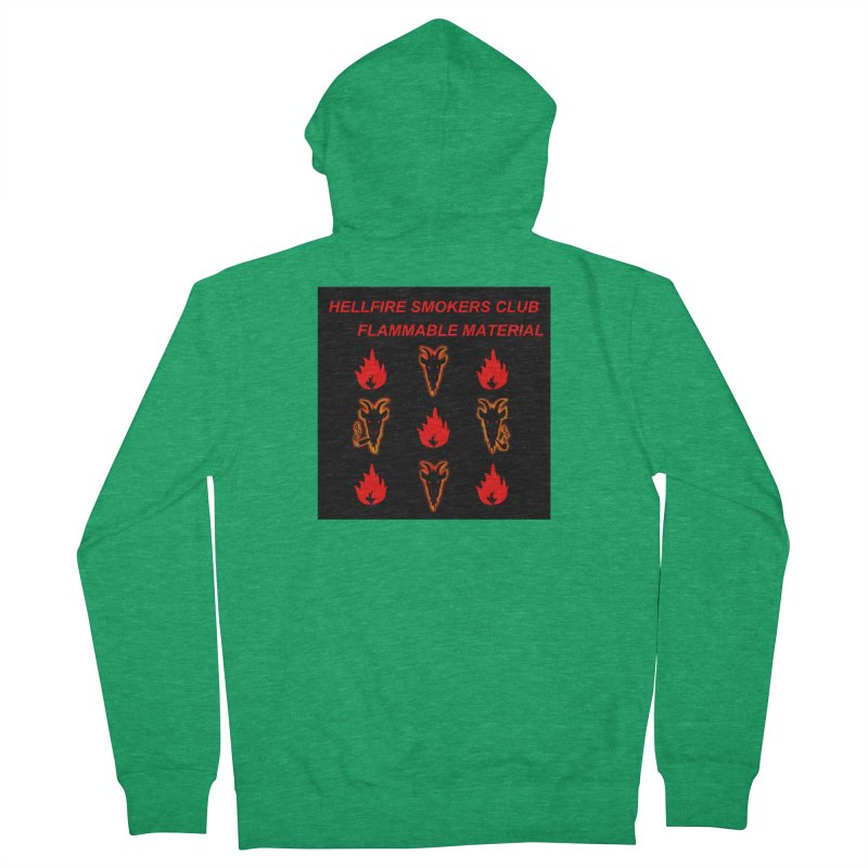 Hellfire Smokers Club - Inflammable Materials Women's Zip-Up Hoody by hellfiresmokersclub's Artist Shop