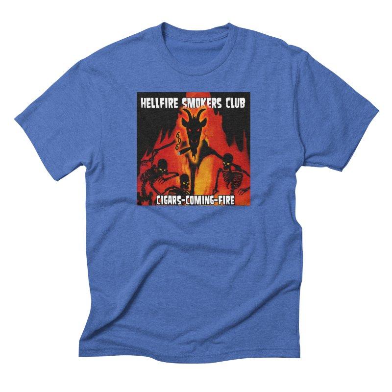 Hellfire Smokers Club - Cigars Coming Fire Men's T-Shirt by hellfiresmokersclub's Artist Shop