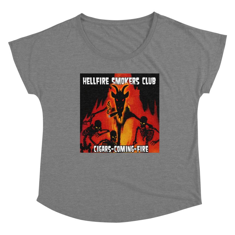 Hellfire Smokers Club - Cigars Coming Fire Women's Scoop Neck by hellfiresmokersclub's Artist Shop