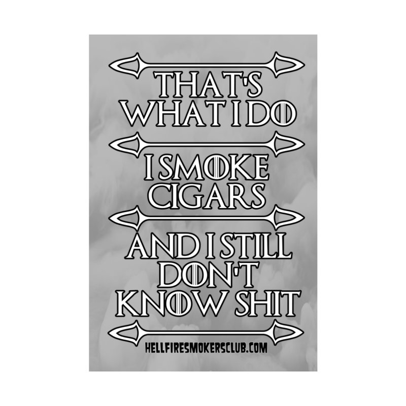 Hellfire Smokers Club - Game of Cigars Sticker Accessories Sticker by hellfiresmokersclub's Artist Shop