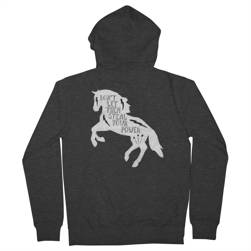 Don't Let Them Steal Your Power Men's French Terry Zip-Up Hoody by Hello Happiness!