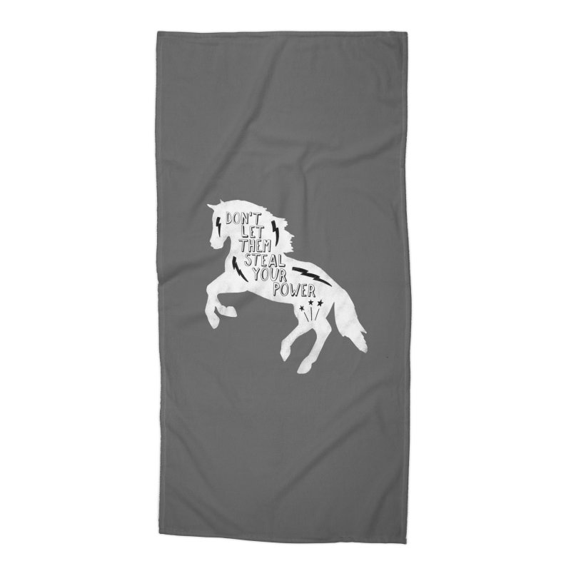Don't Let Them Steal Your Power Accessories Beach Towel by Hello Happiness!