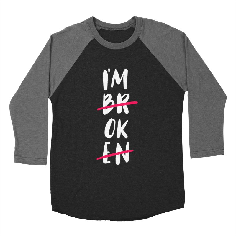 I'm OK Men's Baseball Triblend Longsleeve T-Shirt by Hello Happiness!