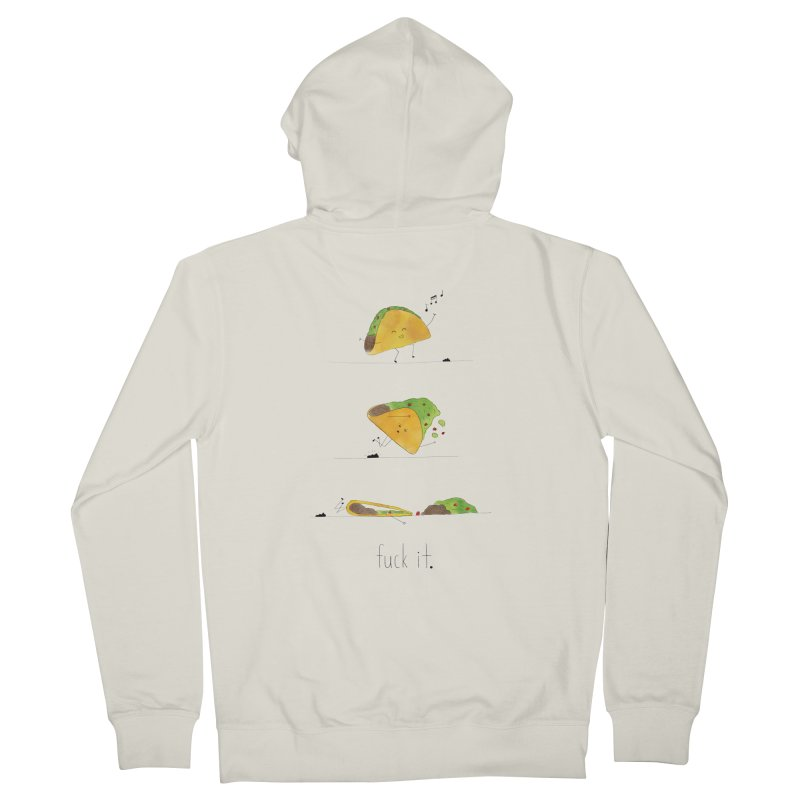 F it Taco Men's French Terry Zip-Up Hoody by Hello Happiness!