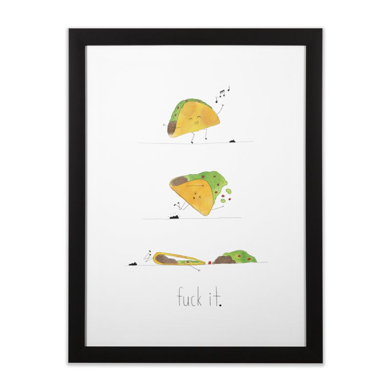 F it Taco Home Framed Fine Art Print by Hello Happiness!