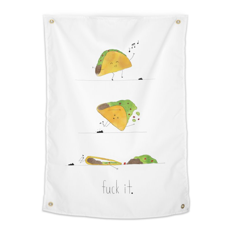 F it Taco Home Tapestry by Hello Happiness!