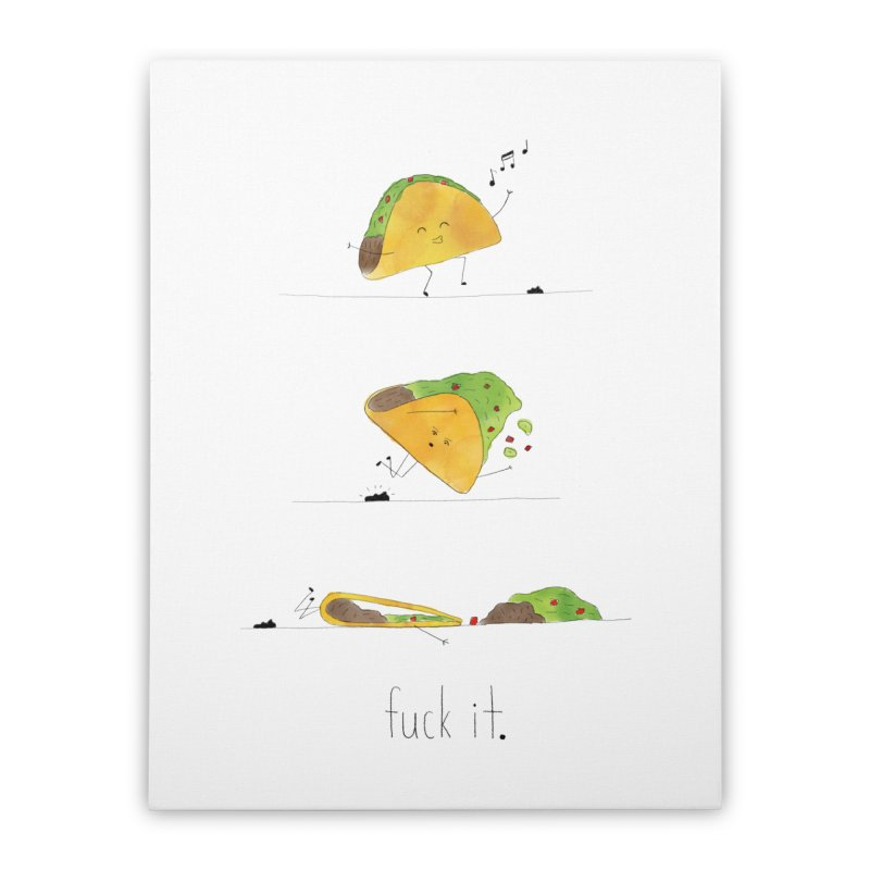 F it Taco Home Stretched Canvas by Hello Happiness!