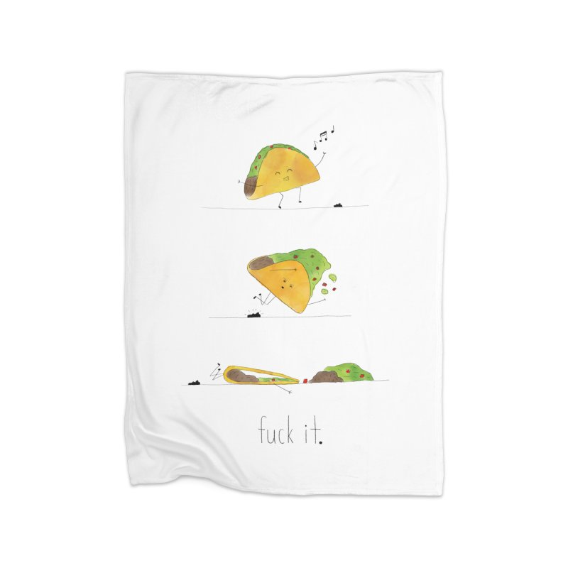 F it Taco Home Fleece Blanket Blanket by Hello Happiness!