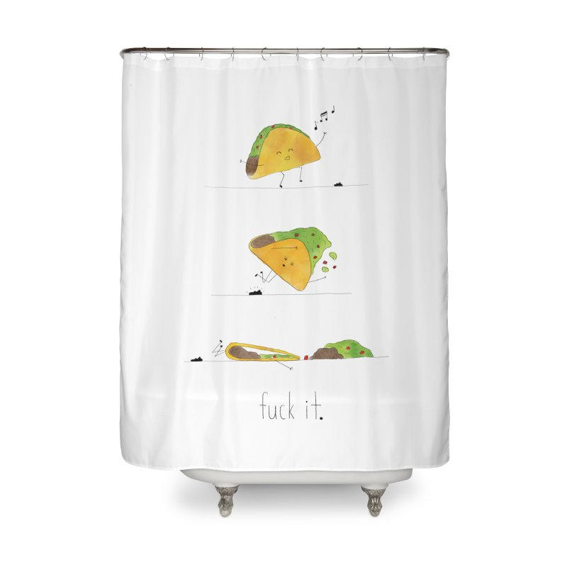 F it Taco Home Shower Curtain by Hello Happiness!