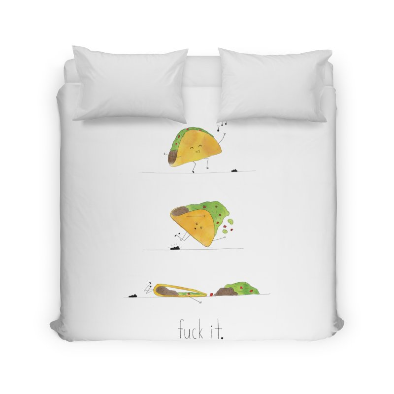 F it Taco Home Duvet by Hello Happiness!