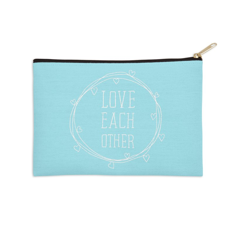 Love Each Other Accessories Zip Pouch by Hello Happiness!