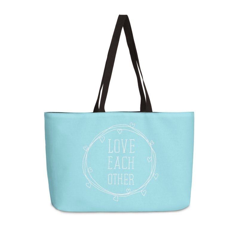 Love Each Other Accessories Weekender Bag Bag by Hello Happiness!