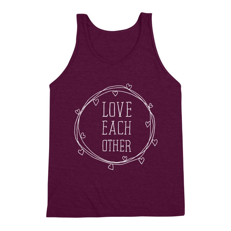 Love Each Other Men's Triblend Tank by Hello Happiness!