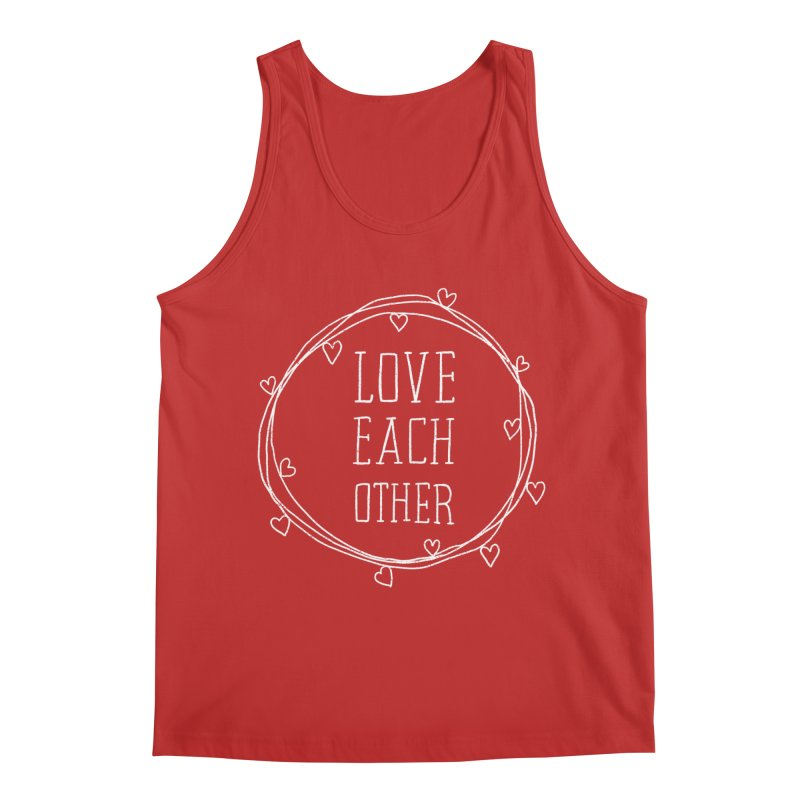 Love Each Other Men's Regular Tank by Hello Happiness!