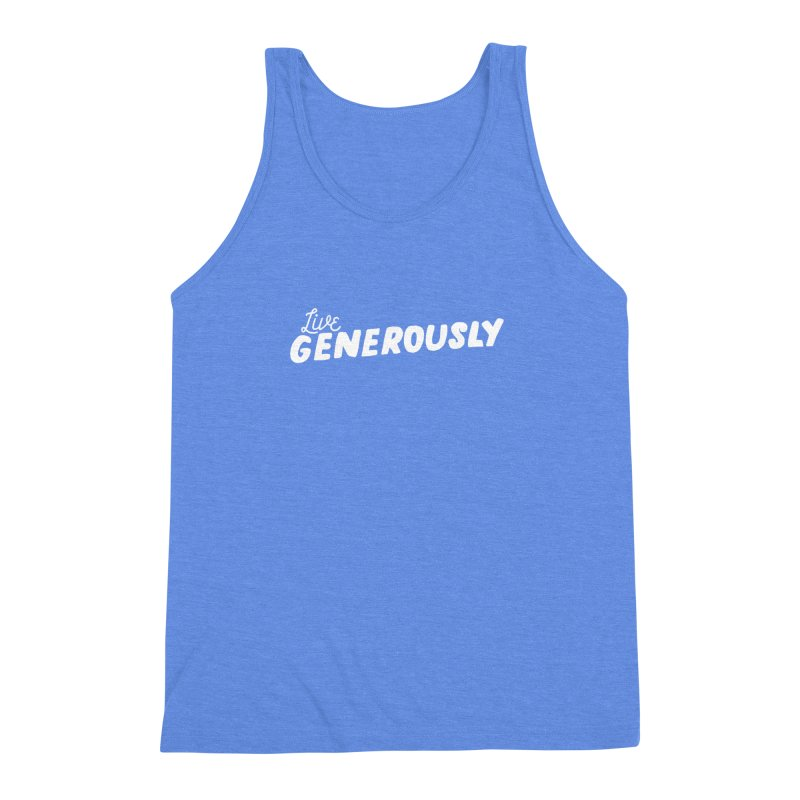 Live Generously Men's Triblend Tank by Hello Happiness!