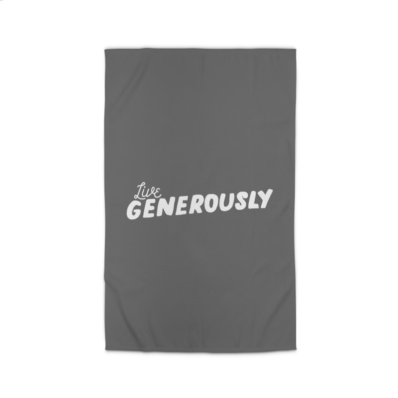Live Generously Home Rug by Hello Happiness!