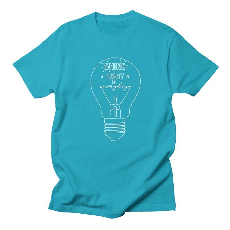 Shine a Light Men's Regular T-Shirt by Hello Happiness!
