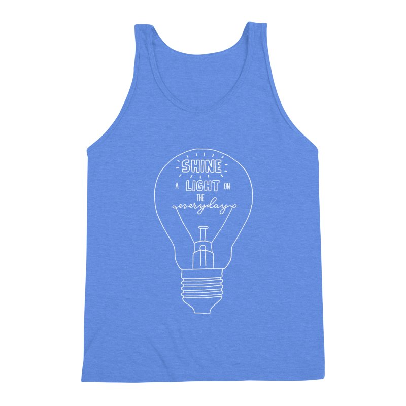 Shine a Light Men's Triblend Tank by Hello Happiness!