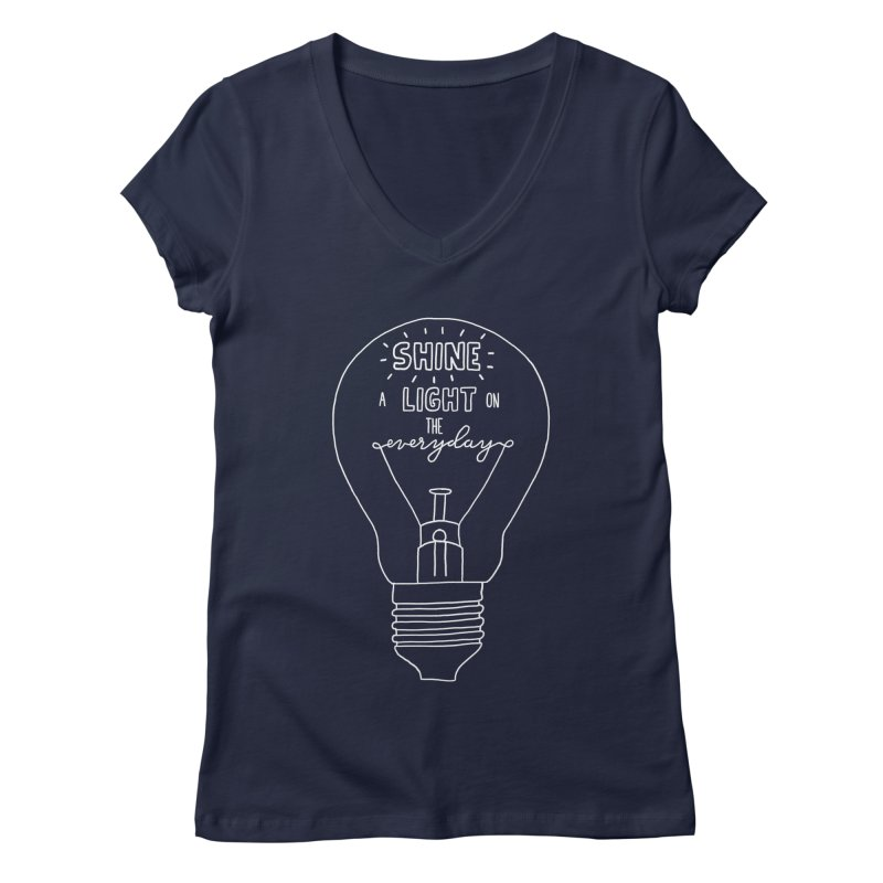 Shine a Light Women's Regular V-Neck by Hello Happiness!