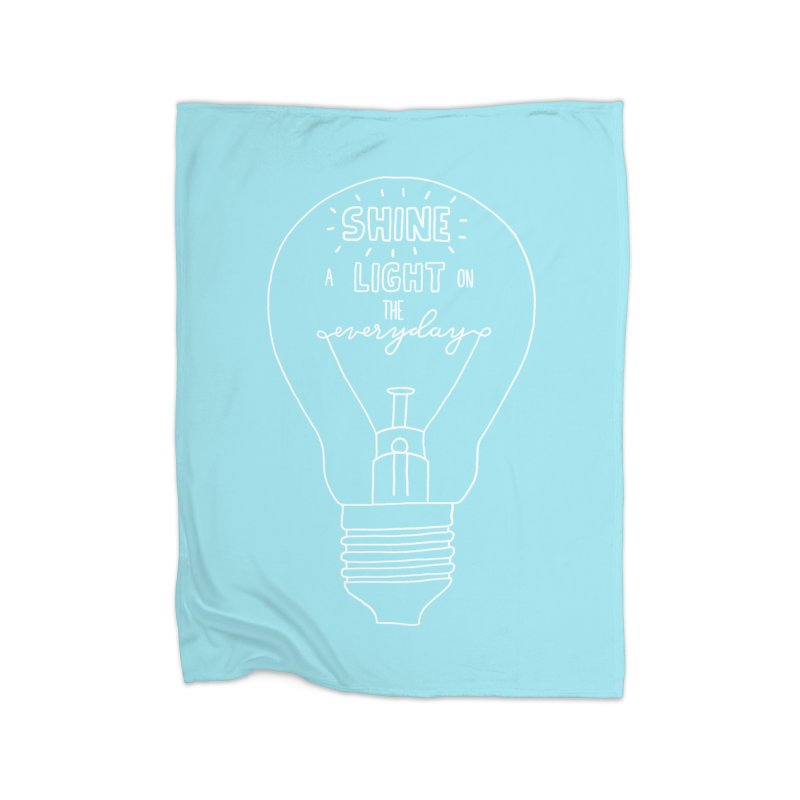 Shine a Light Home Fleece Blanket Blanket by Hello Happiness!
