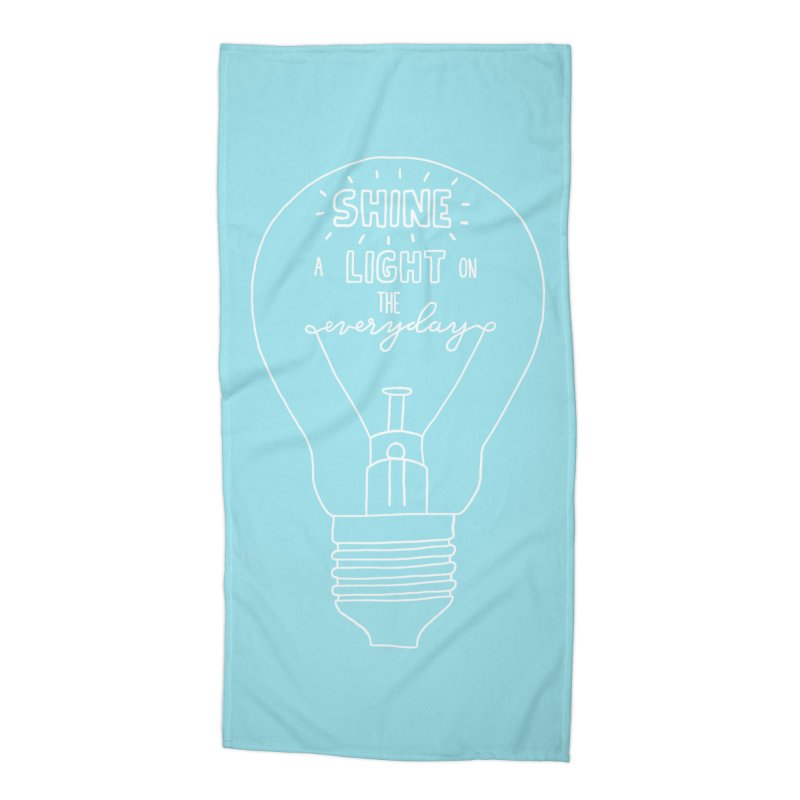 Shine a Light Accessories Beach Towel by Hello Happiness!