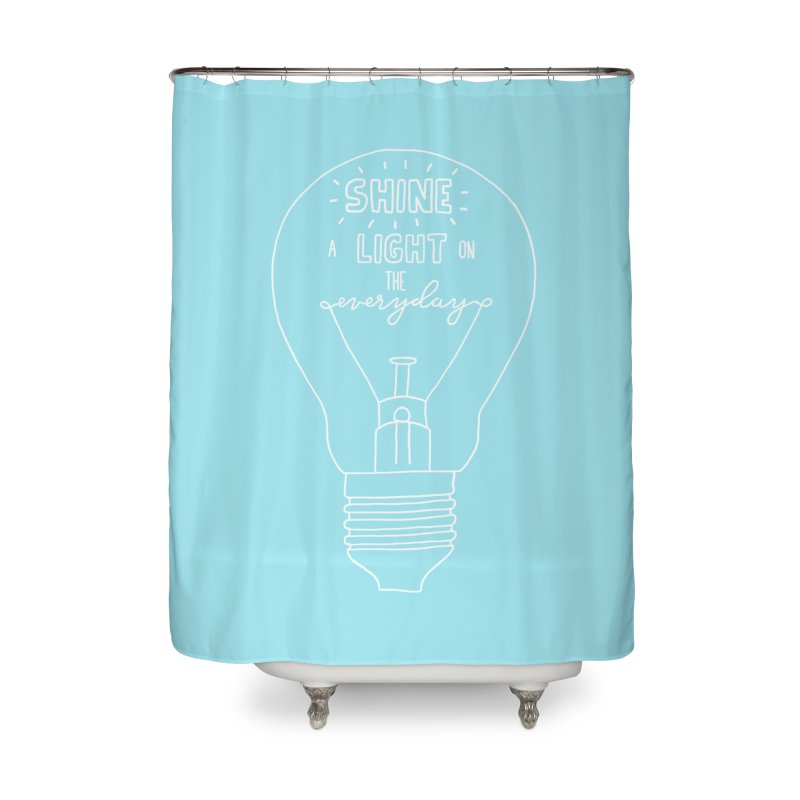 Shine a Light Home Shower Curtain by Hello Happiness!