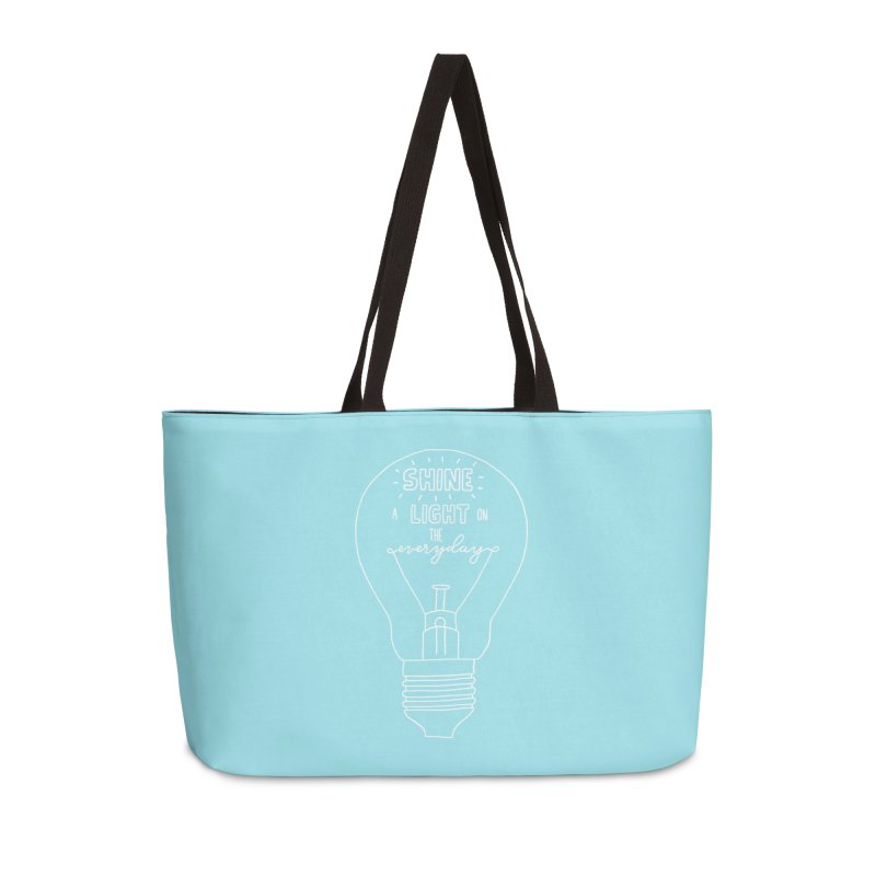 Shine a Light Accessories Weekender Bag Bag by Hello Happiness!
