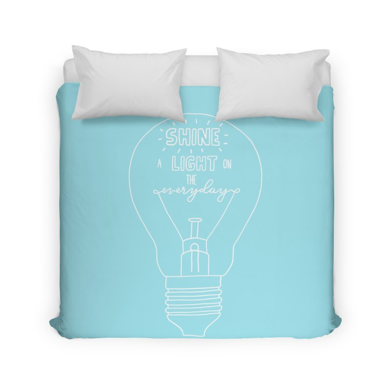 Shine a Light Home Duvet by Hello Happiness!