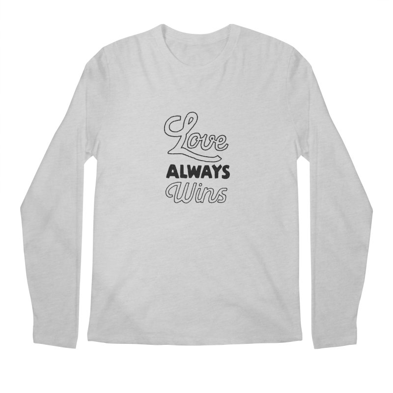 Love Always Wins Men's Regular Longsleeve T-Shirt by Hello Happiness!