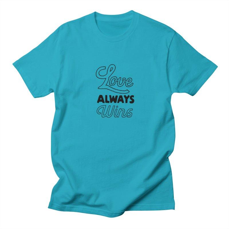 Love Always Wins Men's Regular T-Shirt by Hello Happiness!