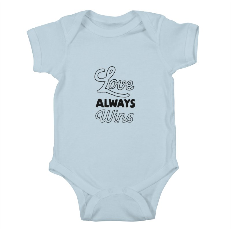 Love Always Wins Kids Baby Bodysuit by Hello Happiness!