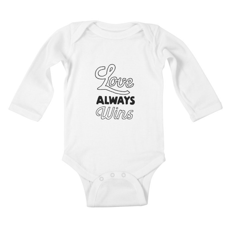 Love Always Wins Kids Baby Longsleeve Bodysuit by Hello Happiness!