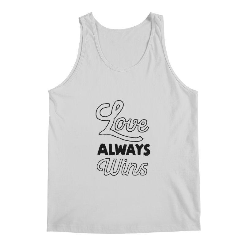 Love Always Wins Men's Regular Tank by Hello Happiness!