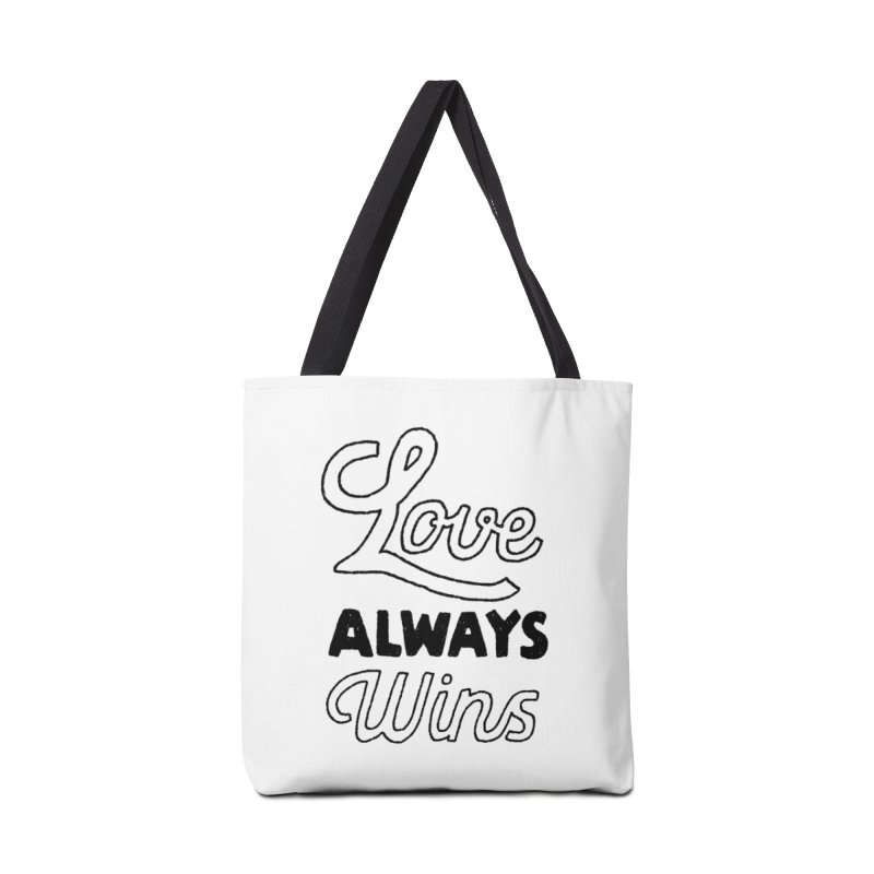 Love Always Wins Accessories Bag by Hello Happiness!