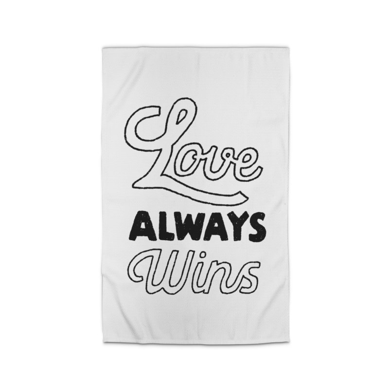 Love Always Wins Home Rug by Hello Happiness!