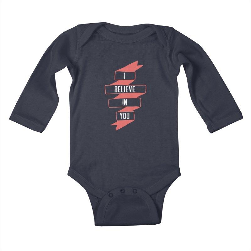 I Believe in You Kids Baby Longsleeve Bodysuit by Hello Happiness!