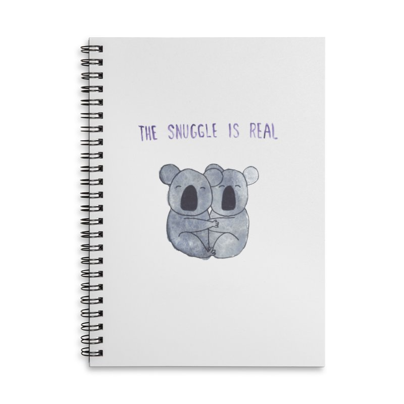 The Snuggle is Real Accessories Lined Spiral Notebook by Hello Happiness!