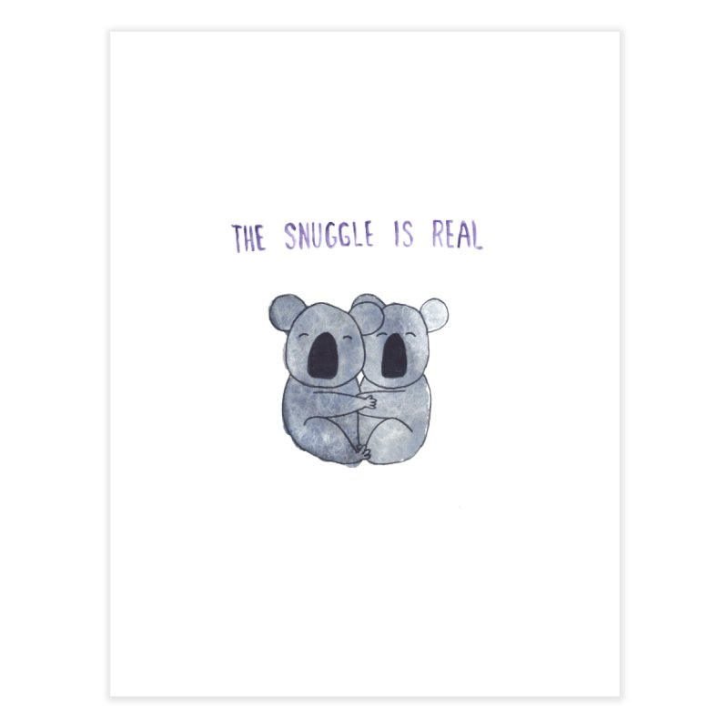 The Snuggle is Real Home Fine Art Print by Hello Happiness!