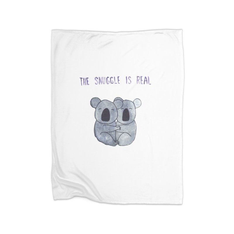 The Snuggle is Real Home Fleece Blanket Blanket by Hello Happiness!
