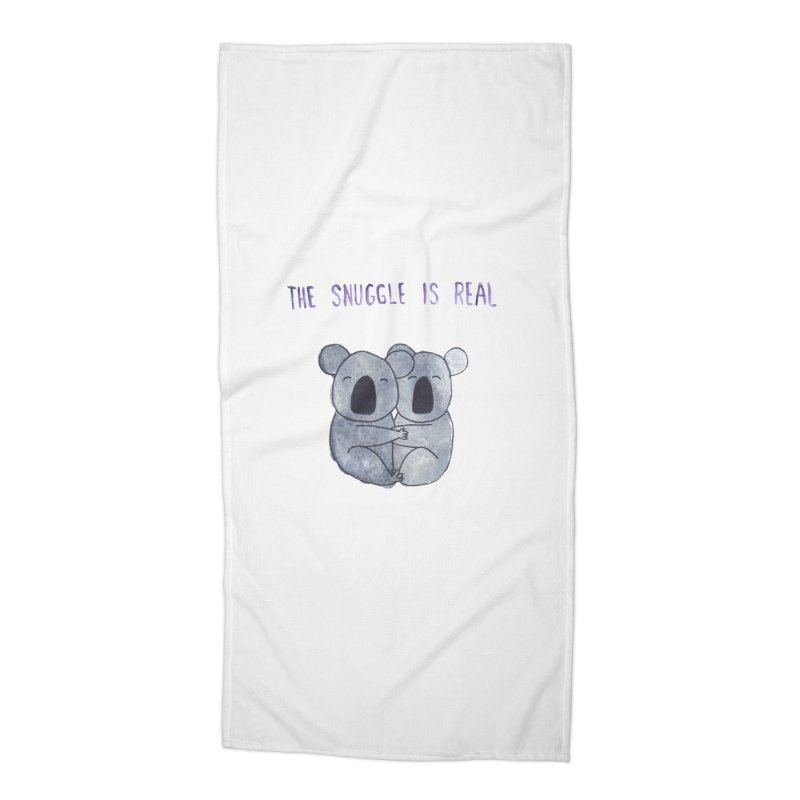 The Snuggle is Real Accessories Beach Towel by Hello Happiness!