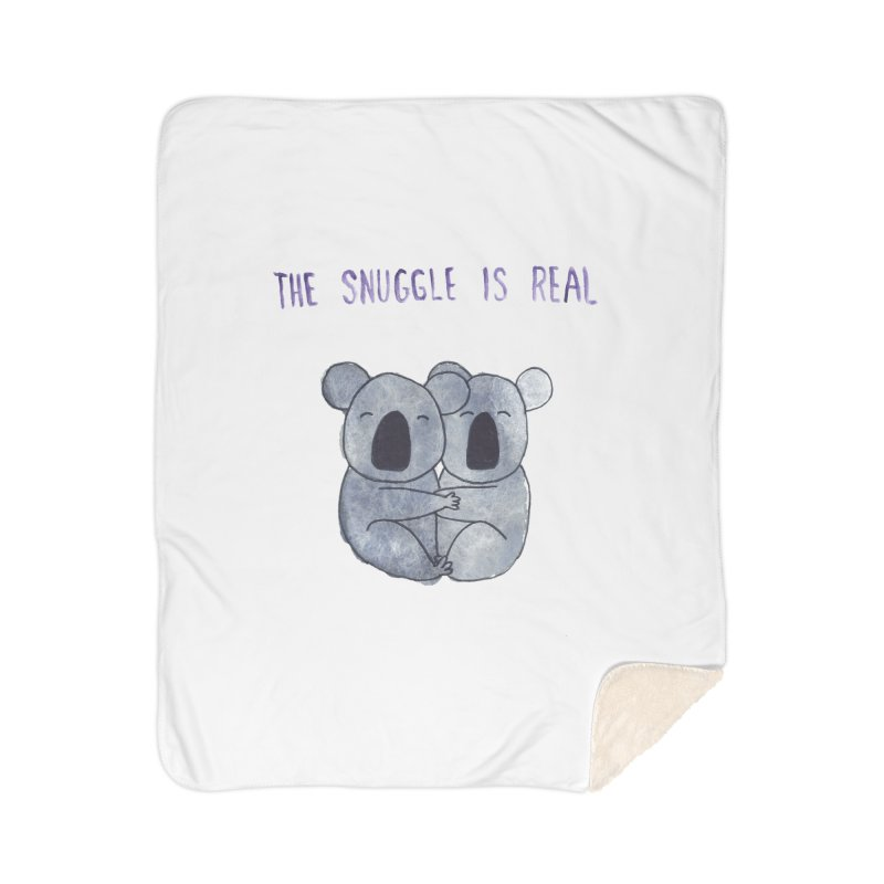 The Snuggle is Real Home Sherpa Blanket Blanket by Hello Happiness!