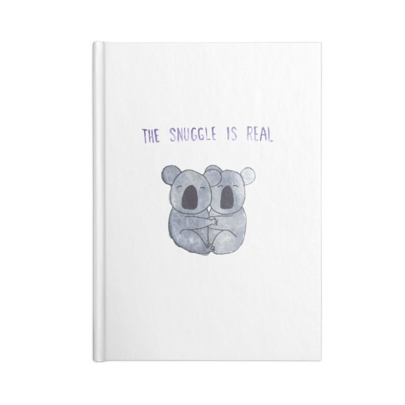 The Snuggle is Real Accessories Lined Journal Notebook by Hello Happiness!