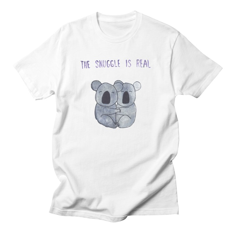 The Snuggle is Real Women's Regular Unisex T-Shirt by Hello Happiness!