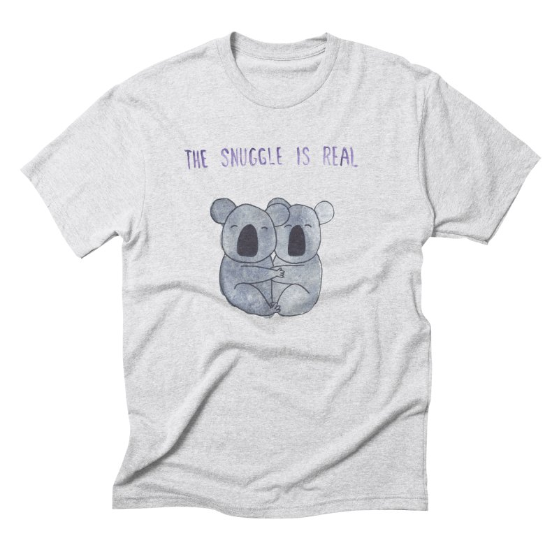 The Snuggle is Real Men's Triblend T-Shirt by Hello Happiness!
